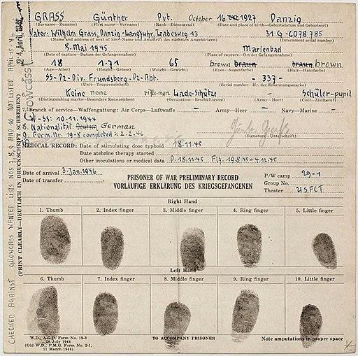 Günter Grass POW record