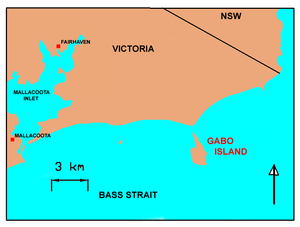 Gabo Island - Image: GABOMAP