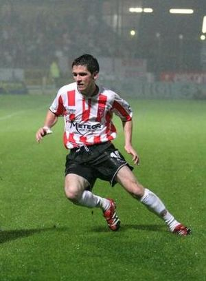 Gareth McGlynn - McGlynn playing for Derry City