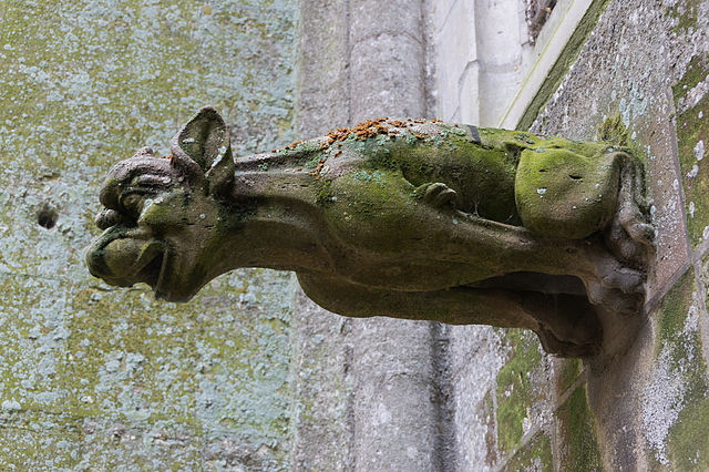Gargoyle on Bayeux Cathedral in Normandy