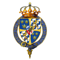 Gartered coat of arms of Charles XI, King of Sweden, KG.png