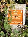 Gas pipeline marker in Reepham Road - geograph.org.uk - 1521299.jpg