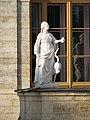 Gatchina. Statue Vigilance about Gatchina Palace.jpg