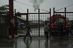 Gates of oil refinery in Port Harcourt