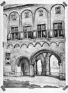 geaquarelleerde tekening van de balanspoort, binnenzijde - middelburg - 20312598 - rce