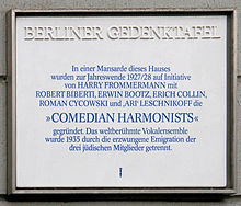 photo : plaque à Berlin