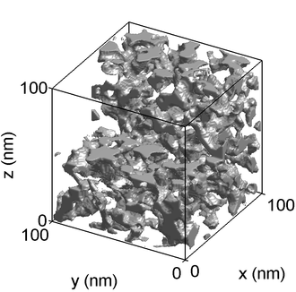 Sol-gel - Image: Gel SAXS reconstruction