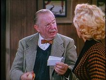 O actor Charles Coburn en 1953 en a cinta Gentlemen Prefer Blondes.