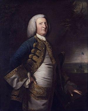 George Anson, 1st Baron Anson - Portrait of George Anson by Joshua Reynolds, 1755