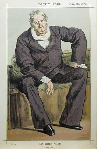"George Bentinck (Norfolk MP) - ""Big Ben"" Bentinck caricatured by James Tissot in Vanity Fair, August 1871"