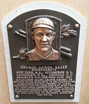 George Kelly (baseball) - Kelly's plaque at the National Baseball Hall of Fame and Museum