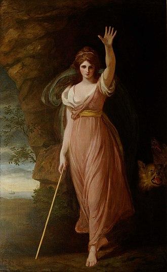 George Romney (painter) - Emma Hart, Lady Hamilton as Circe, 1782 at Waddesdon Manor