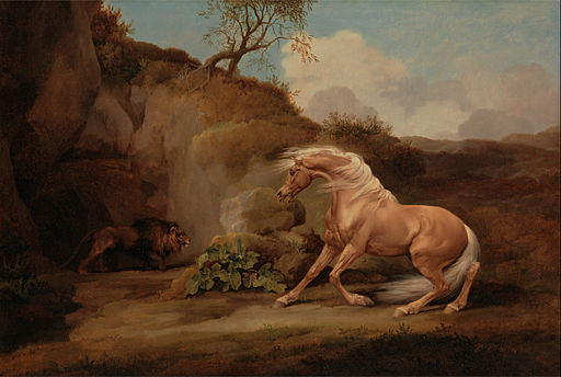 George Stubbs - Horse Frightened by a Lion - Google Art Project (2416309)