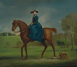 George Stubbs: The Countess of Coningsby in the Costume of the Charlton Hunt