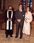 George W. Bush and Laura Welch Bush on their wedding day in Midland, Texas.jpg
