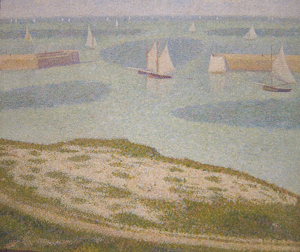 Georges Seurat - Port-en-Bessin - Entrance to the Harbor