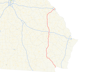 U.S. Route 1 in Georgia - Image: Georgia state route 4 map