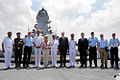 German Defence Minister Ursula and other dignitaries on board INS Kolkata.jpg