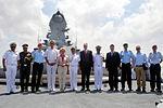 German Defence Minister Ursula and other dignitaries on board INS Kolkata.jpg