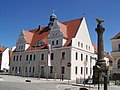 Germany Brandenburg Country Lausitz Kirchhain Town Hall and First World War Memorial 100 1524 - panoramio.jpg