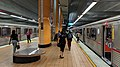 Getting off the subway at the North Hollywood Metro Station in Los Angeles.jpg