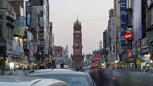Clock Tower, Faisalabad - Ghanta Ghar bazaar is made up of eight bazaars, where local grown produce is bought and sold.
