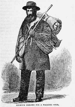 James Gilmour (missionary) - Gilmour traveling on foot