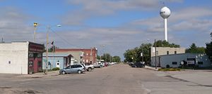 Giltner, Nebraska - Downtown Giltner: Commercial Avenue