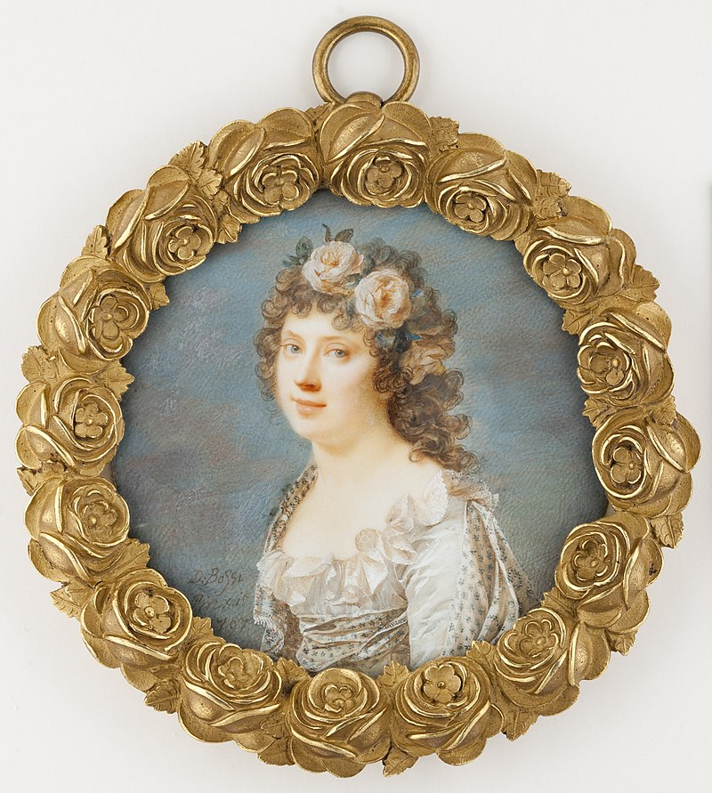 Giovanni Domenico Bossi (1765–1853)- Young Woman with Garland of Flowers - Nuori seppelepäinen tyttö - Ung kvinna med blomsterkrans (28845438853).jpg