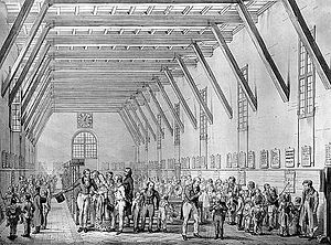 Monitorial System - Count Confalonieri and Silvio Pellico attend a demonstration of the Bell-Lancaster method in the Piedmont, Italy (1860s).