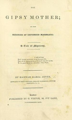 Hannah Maria Jones - 1835 book cover
