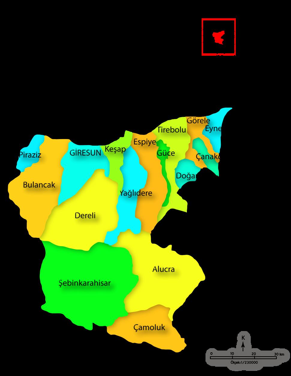Giresun districts