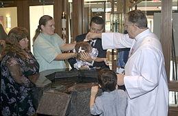 Baptismo de uma menina