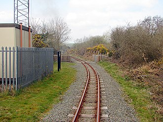 Glanyrafon railway station - View of Glanyrafon halt (before the 2012 removal of the RETB mast)