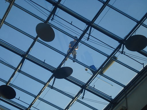 Glass ceiling in Mare building2