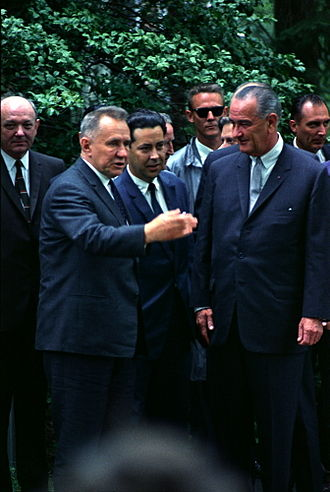 Sentinel program - Soviet Premier Alexei Kosygin met with Johnson at the Glassboro Summit Conference.