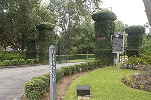 Glenwood Cemetery (Houston, Texas) - The Main entrance.