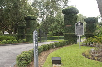 Glenwood Cemetery (Houston, Texas) - Main entrance