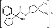 Glycopyrroniumbromide Structural Formulae.png