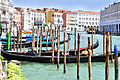 Gondolas at Hotel Ca Sagredo - Grand Canal - Rialto - Venice Italy Venezia - Creative Commons by gnuckx (4763291323).jpg