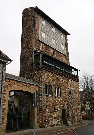 History of Goslar - The Weber Tower, part of the old town fortifications