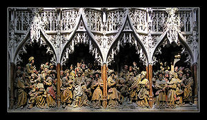 Gothic art - Gothic sculpture, late 15th century, Amiens Cathedral.