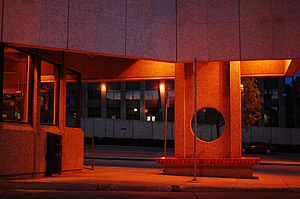 Grandin station - Image: Government Centre TC at night