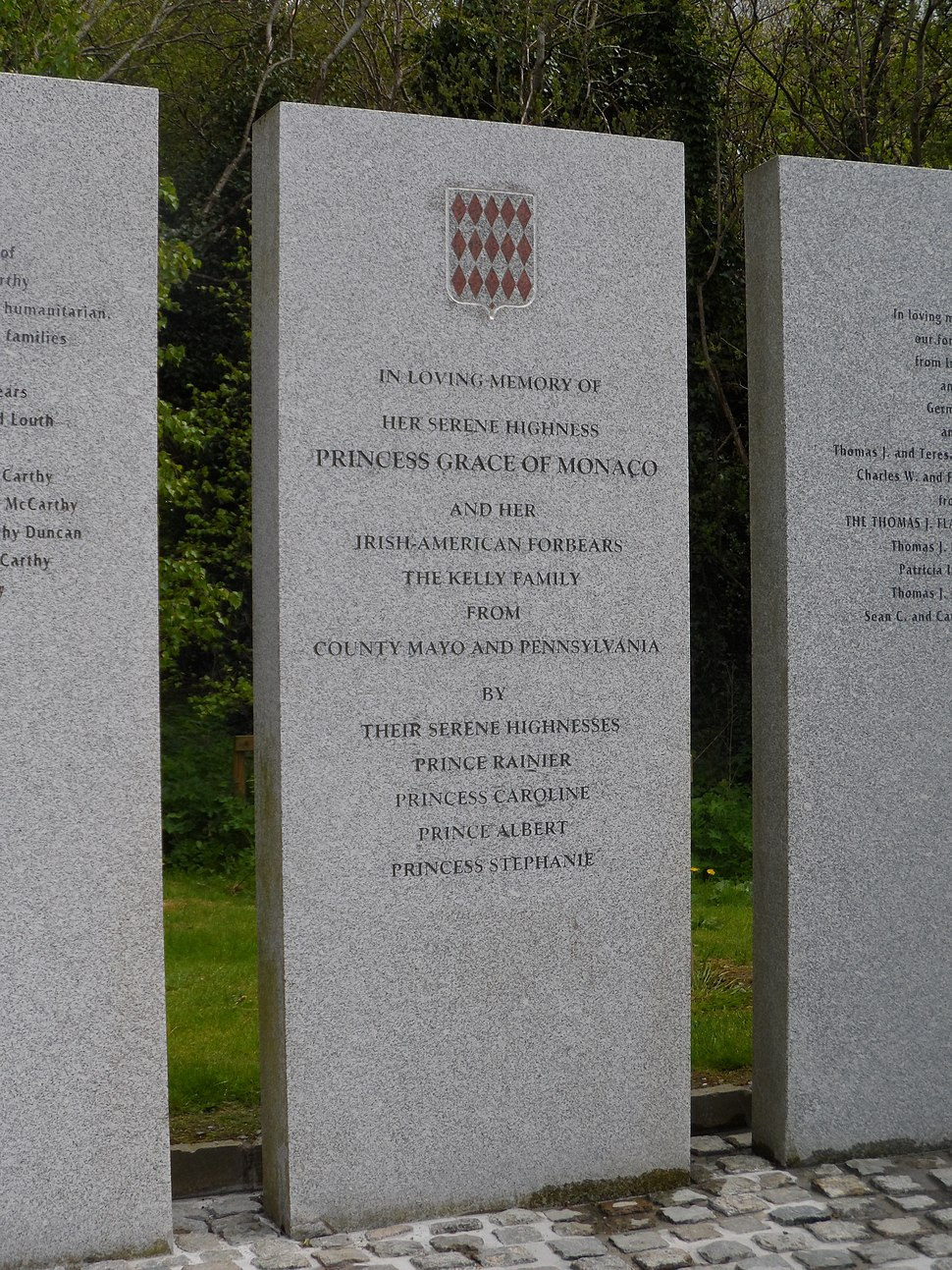 Grace Kelly memorial, Maynooth