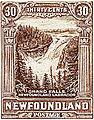 Grand Falls, Labrador Newfoundland Stamp (1931).jpg