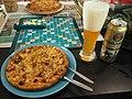 Grandiosa Double Salami Pizza and Paulaner Hefe-Weißbier.jpg