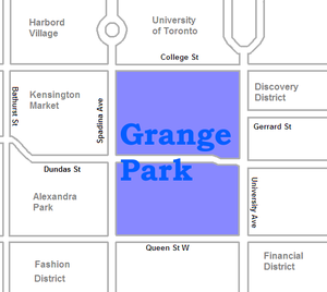 Grange Park (neighbourhood) - Image: Grange Park map