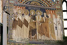 Granting of privileges mosaic (detail) - Sant'Apollinare in Classe - Ravenna 2016 (2).jpg