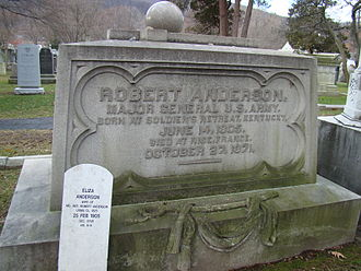 Robert Anderson (Civil War) - Gravesite at the West Point Cemetery