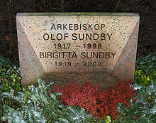 Grave of swedish arch bishop olof sundby lund sweden.jpg